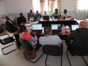 Les participants pendant la formation