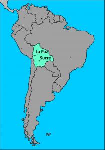 Bolivia en Sudamérica