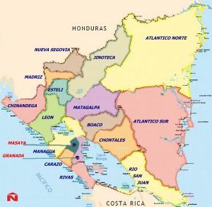 Map Nicaragua