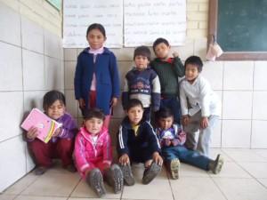 Foto Archivo: Niños del colegio de Cocapata