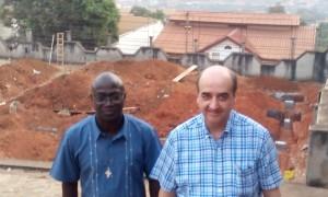 PP Pedro Aguado y Pierre Diatta en Abobo