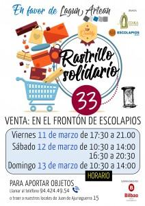 Cartel venta 33 Rastrillo 2016