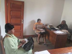 Visite de la représentante du Délégué Régionale Nord-Ouest MINFOP
