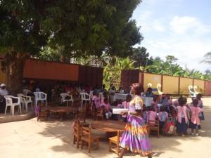 Sesión de matemáticas en Bafia à l'aire