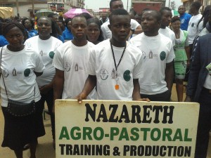 celbration of labour day at Nazareth centre