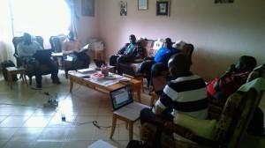 Los directores en su primera reunión del curso