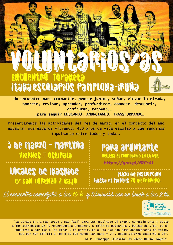 Encuentro de voluntariado Pamplona para impresión en papel