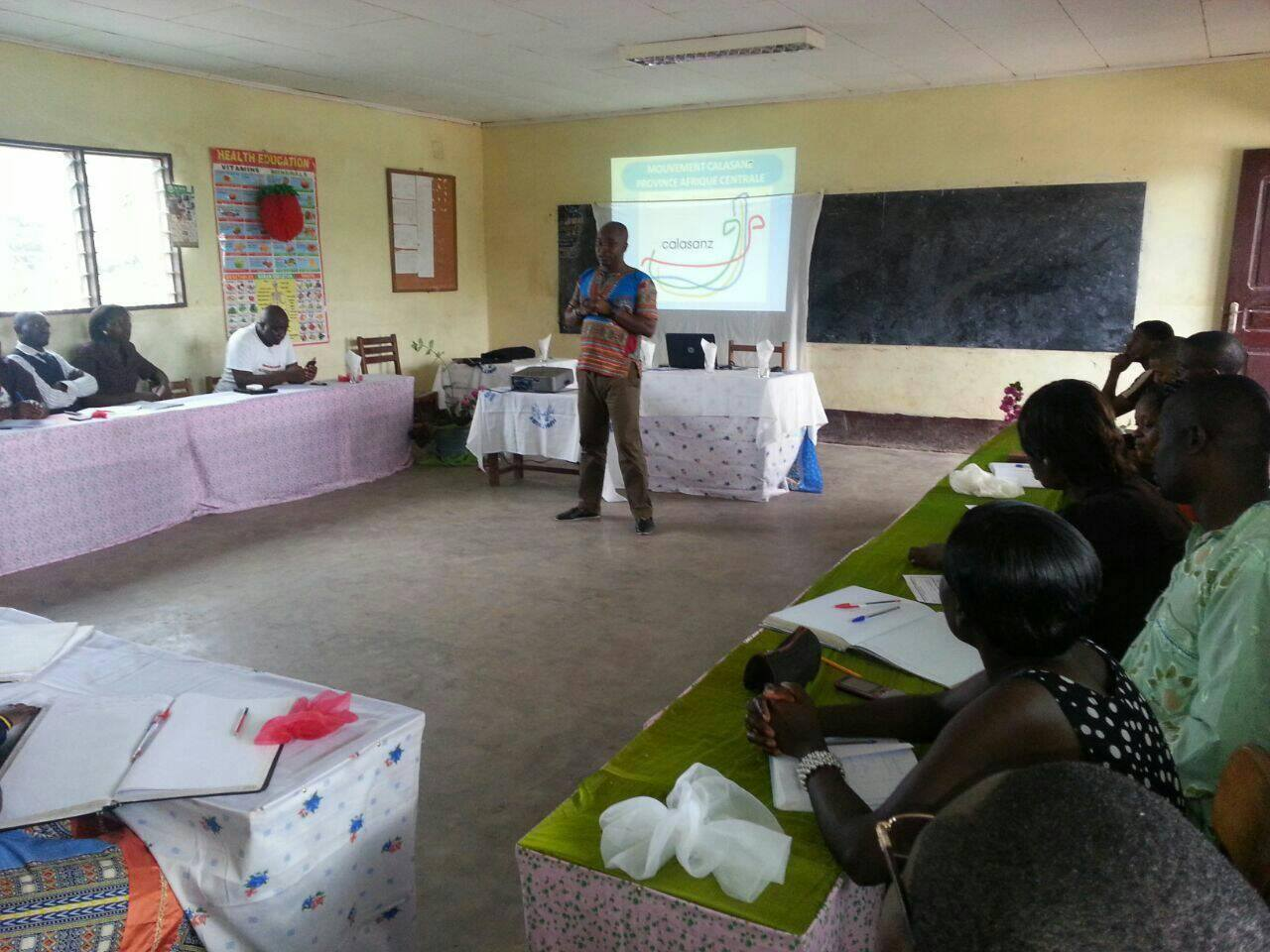 Por parte de Clement, coordinador provincial del MC en África Central
