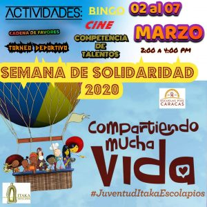 Actividades de la semana en Caracas